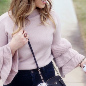Pink Ruffle Bell Sleeves for Winter