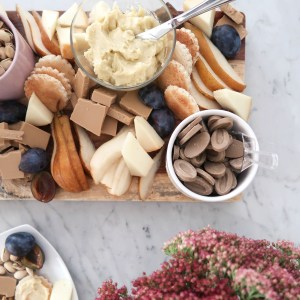 A Fall Dessert Chocolate and Cheese Board