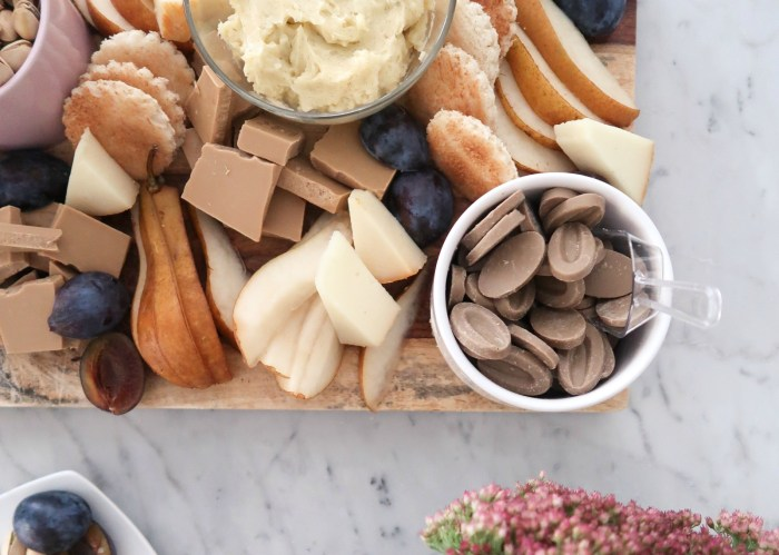Fall Dessert Chocolate and Cheese Board