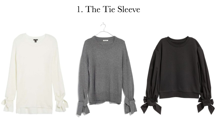 5 must have sweater styles: The tie sleeve sweater