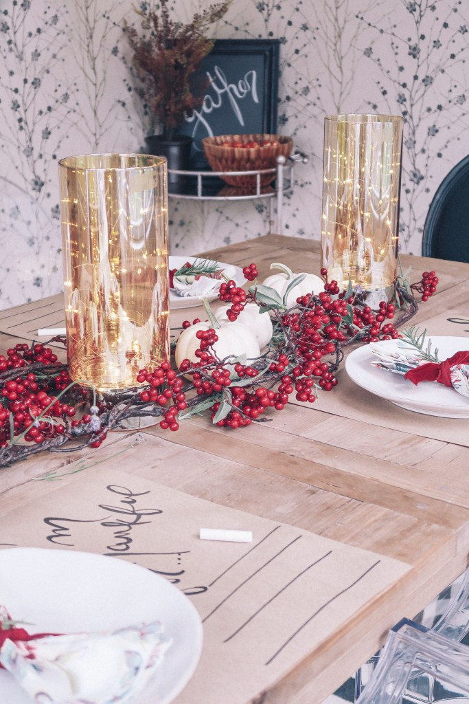 Fall Table Garland: Zoe With Love Details How to Decorate a Thanksgiving Table on a Budget