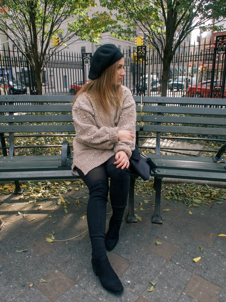 Chicwish Pearl Sweater Dress | Pittsburgh Lifestyle Blog, Zoe With Love