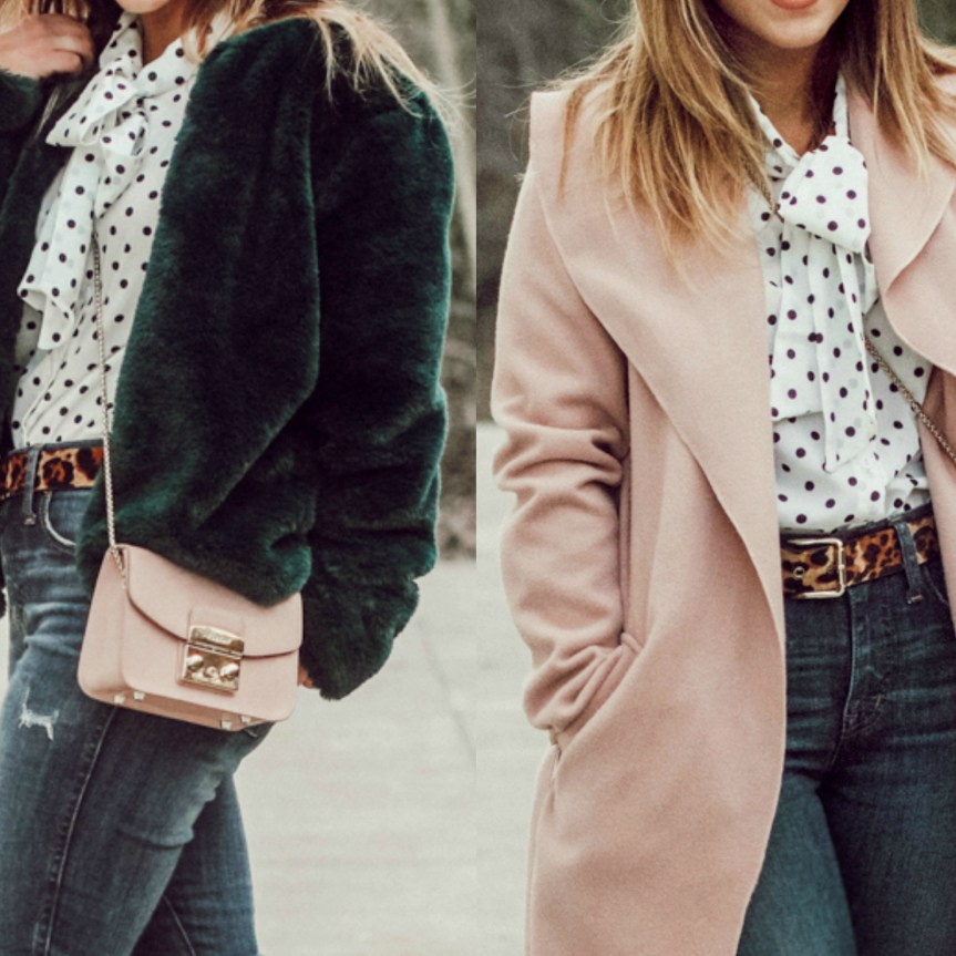 One Outfit, Two Ways: Colored Jackets + Nude Shoes | Pittsburgh Lifestyle Blogger, Zoë With Love