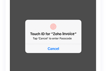 GST Invoicing App   Mobile App for GST Invoice   Zoho Invoice Secure your app using Touch ID