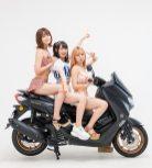 仮面女子とバイク/YAMAHA NMAX ABS・大鈴はるみ・小島夕佳・涼邑芹