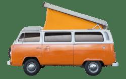 Lackierter VW-Bus