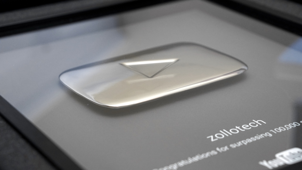 YouTube Silver Play Button Unboxing Thank You Zollotech