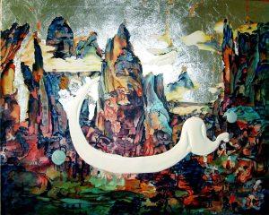 Acrylbild 100 x 80 cm gemalt