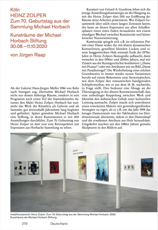 Kunstforum International, vol 270, Heinz Zolper 2