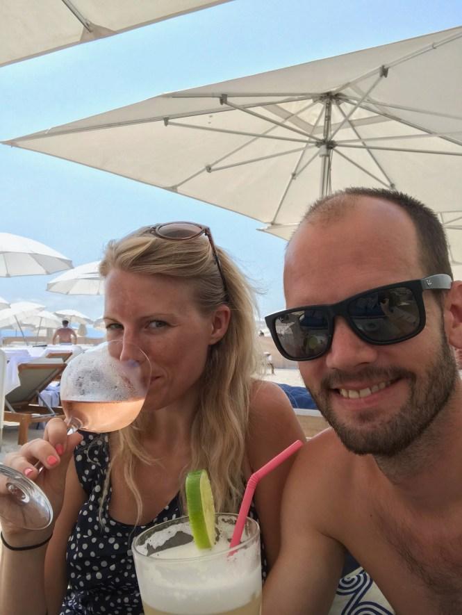 Op het strand in Cannes