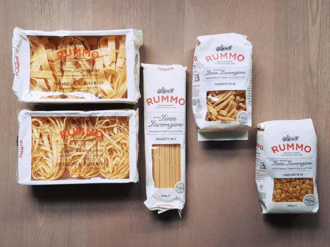 Rummo pastasoorten