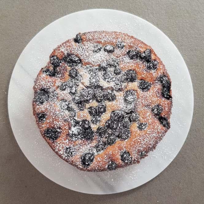 Citroencake met ricotta en blauwe bessen