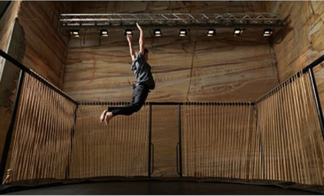 Dancer: Chen Zhen's trampoline makes music as you bounce Photograph: MONA