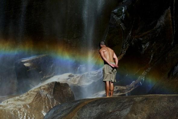Rainbow contemplation-R