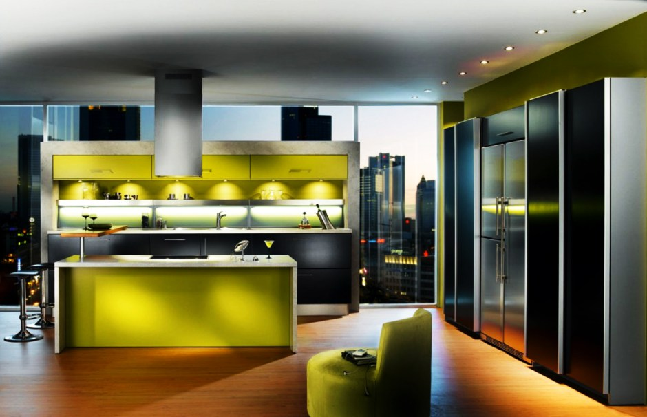 """2015   JULY Modern Green Apartment The only thing we would add to this wonderful kitchen is a """"Fresh Garden"""" with Herbs and Cherry Tomatoes!"""