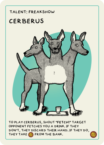 zombie circus goats cerberus card