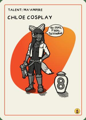 zombie circus goats chloe cosplay card