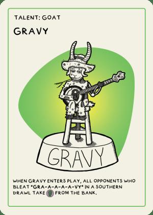 zombie circus goats gravy card
