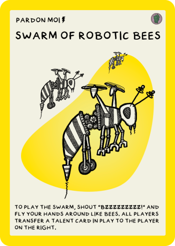 zombie circus goats swarm of robotic bees card