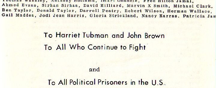 Dedication to William Ayers 1974 book Prairie Fire, dedicated in part to Kennedys convicted killer Sirhan Sirhan.