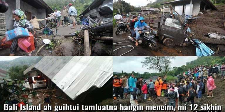 Indonesia, Bali Island ah guihtui tamluatna hangin mencim, mi 12 sikhin ~ ZD