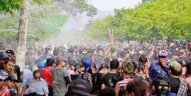 Yangon ah tuibuahpawi Thingyan Festival sungteng Security khauhsakding
