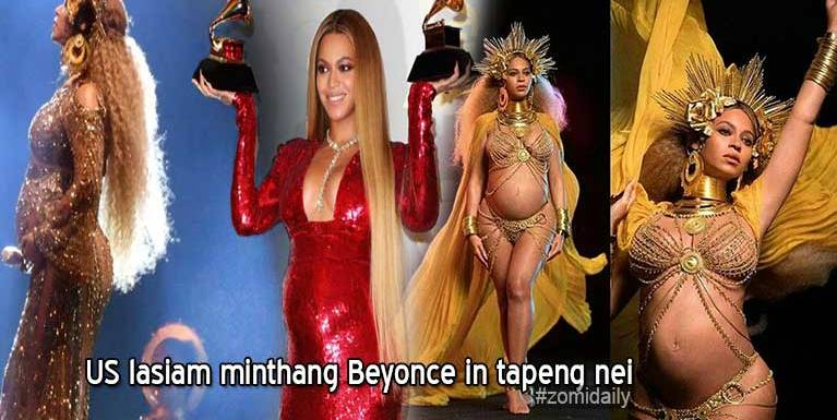 US lasiam minthang Beyonce in tapeng nei