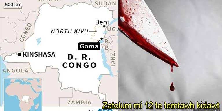Africa, Congo gamsung aom zatolum cina mi 12 tak migilo te'n temtawh dawtliam