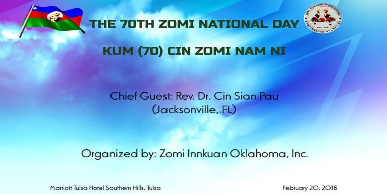 Mailam Chin National Day or Zomi Nam Ni ih bawlciang