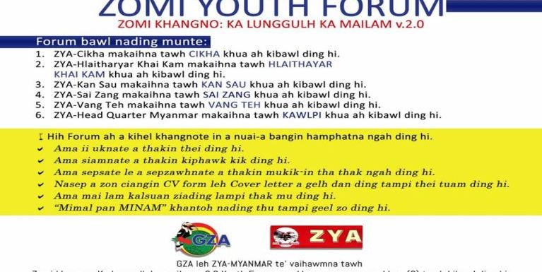 A 2 veina Zomi Youth Forum (Kawlpi)