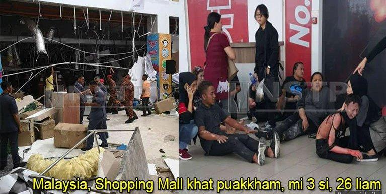 Malaysia, Kuching aom Shopping Mall khat puakkham, mi 3 si, 26 liam
