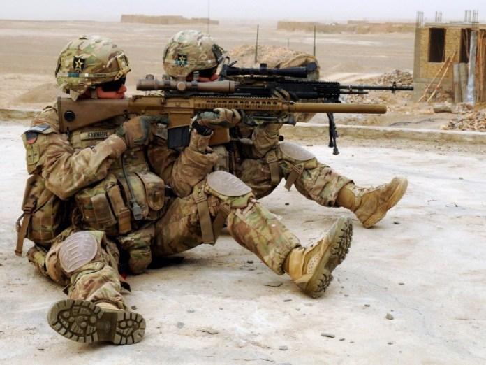 Tiradores de primera pertenecientes al 23rd Infantry Regiment, Afganistán. Imagen: US Army - Staff Sgt. Shane Hamann.