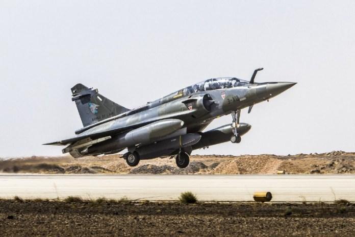 Mirage 2000D despega desde Jordania hacia su objetivo. Imagen: Ada -EMA.