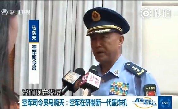 El general Ma Xiaotian, comandante de la Fuerza Aérea del Ejercito Popular de Liberación (PLAAF) de China