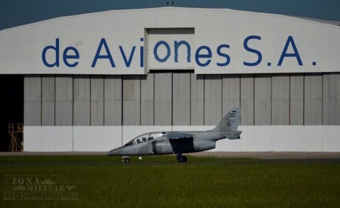 IA-63 Pampa II-40 momento antes de emprender su vuelo a los fines de reincorporarse a la IV Brigada Aérea. Imagen: Zona-Militar.
