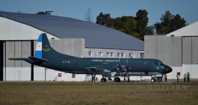 P-3B Orion 6-P-56 en la plataforma de FAdeA previo a iniciar su recorrido. Imagen: Zona-Militar.