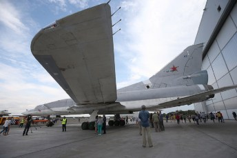 New Tupolev Tu-22M3M supersonic strike bomber unveiled in Kazan, Russia