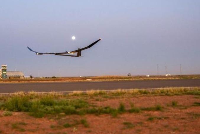 avión no tripulado solar