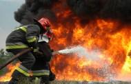 Изгоря навес с 1800 бали сено в с. Хаджиите