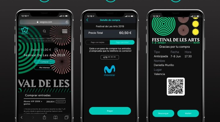Los clientes de Movistar podrán pagar los conciertos a través de su factura móvil