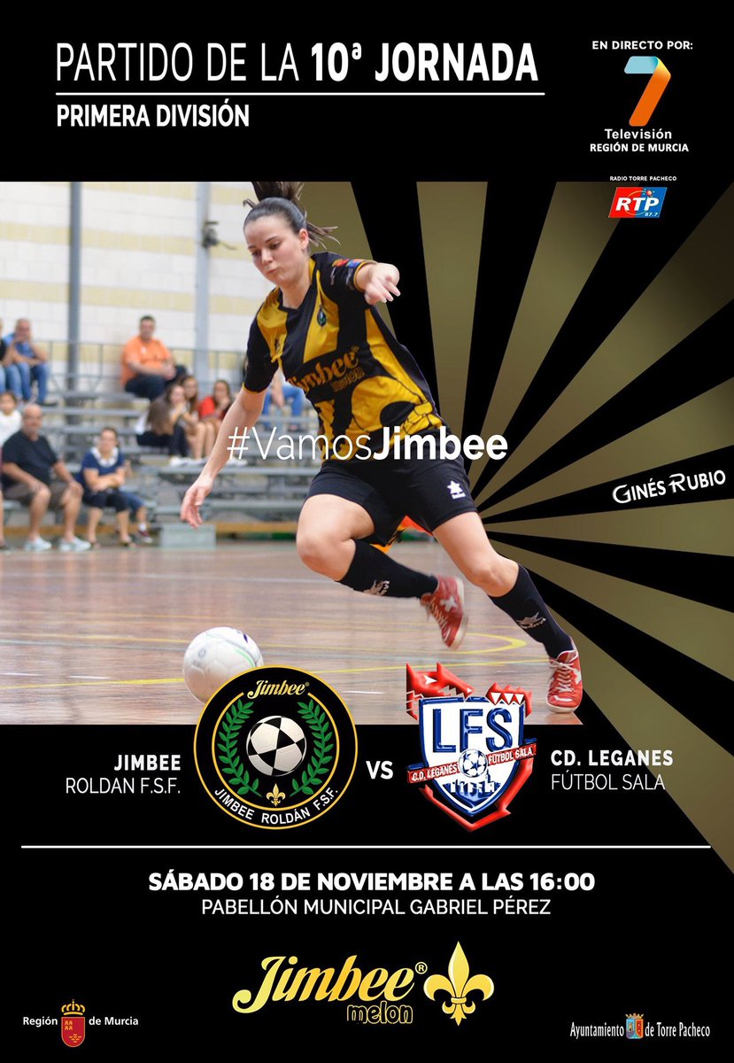Club Jimbee Roldán vs CD Leganes FS Jornada 10
