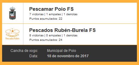 Poio Pescamar FS vs Pescados-Rubén Burela FS Jornada 10