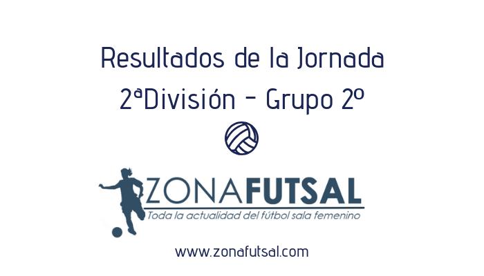 Resultados. 2ª División de Fútbol Sala Femenino. Grupo 2º. Jornada 18