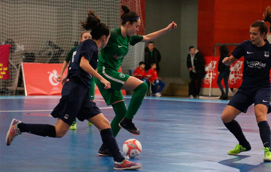Andalucía - Cataluña y Galicia - Cataluña, finales del Autonómico Femenino de fútbol sala Sub-17 y Sub-20