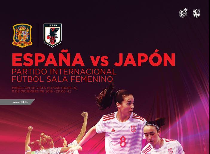 La Selección Española Femenina de Fútbol Sala gana 4 a 2 a Japón en su segundo amistoso