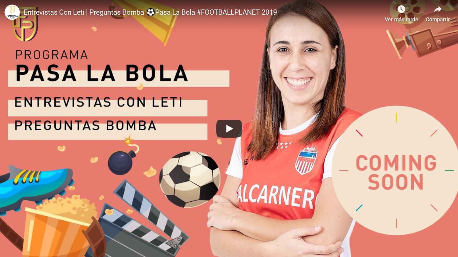 """Entrevista a Vane Sotelo en el espacio """"Pasa la Bola"""" del Canal Football Planet"""
