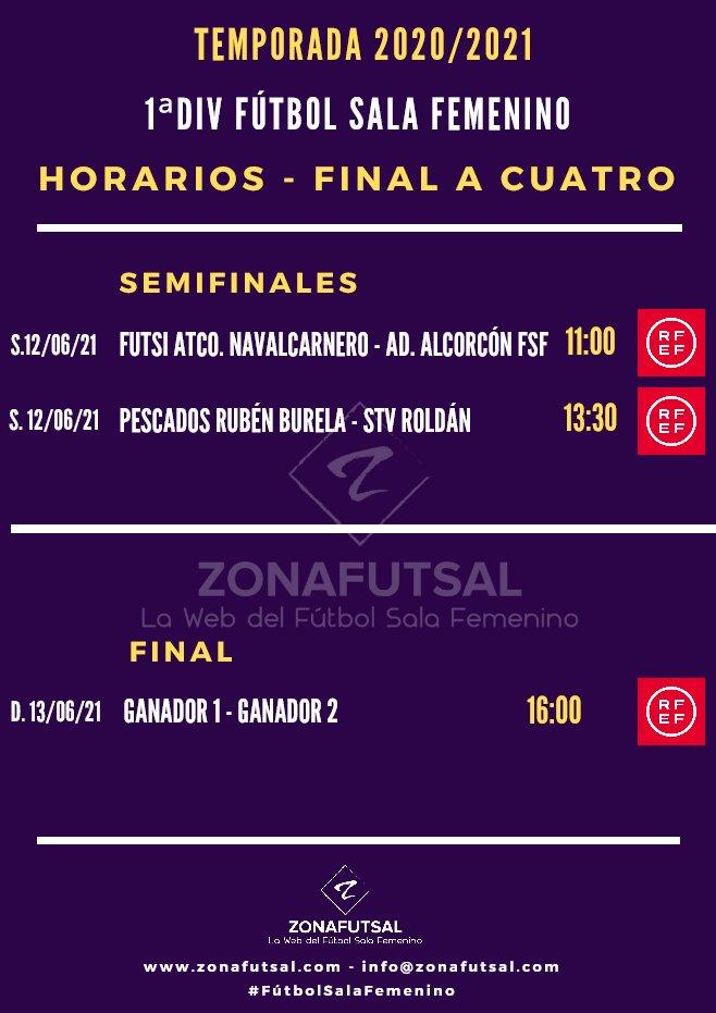 Horarios de la Final Four por el Título de Campeón de Liga de 1ª División