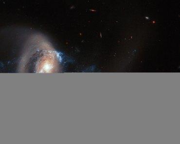 La galaxia NGC 7714 tras la colisión