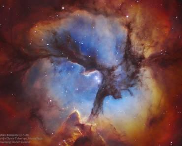 En el centro de la nebulosa Trífida