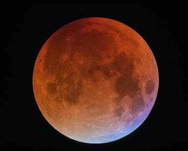 Una Luna de sangre azul